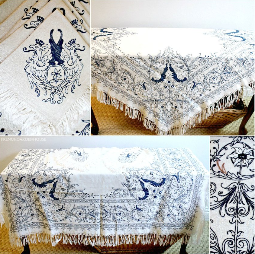 antique table linen